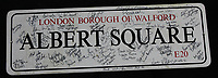 BNPS.co.uk (01202 558833)<br /> AdamPartridge/BNPS<br /> <br /> An 'Albert Square' road sign featuring signatures of cast members.<br /> <br /> A vast collection of 'weird and wonderful' memorabilia from a music venue that hosted early Beatles gigs has emerged for sale for close to £50,000.<br /> <br /> Lathom Hall in Liverpool was one of the best known clubs on the Merseybeat music scene in the late 1950s and early 1960s.<br /> <br /> Among their regular bands were the Beatles, although at that time they were known as the Silver Beets.<br /> <br /> Since those days the hall has adapted and is now an entertainment venue crammed full of pop culture memorabilia.
