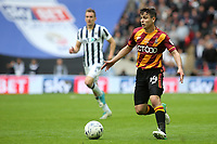 Josh Cullen of Bradford City in possession during Bradford City vs Millwall, Sky Bet EFL League 1 Play-Off Final at Wembley Stadium on 20th May 2017
