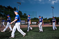 24 May 2009: Team Senart is seen during the 2009 challenge de France, a tournament with the best French baseball teams - all eight elite league clubs - to determine a spot in the European Cup next year, at Montpellier, France. Senart wins 8-5 over La Guerche.
