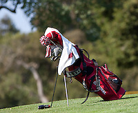 Stanford, Ca - Thursday, May 18, 2012: Stanford Golf plays in the NCAA Regionals held at the Stanford Golf Course. Cameron Wilson's Bag