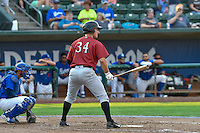 Joe Dudek (34) of the Idaho Falls Chukars at bat against the Ogden Raptors in Pioneer League action at Lindquist Field on September 3, 2016 in Ogden, Utah. The Chukars defeated the Raptors 3-0. (Stephen Smith/Four Seam Images)