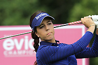 Georgia Hall (ENG) tees off the 5th tee during Friday's Round 2 of The Evian Championship 2018, held at the Evian Resort Golf Club, Evian-les-Bains, France. 14th September 2018.<br /> Picture: Eoin Clarke | Golffile<br /> <br /> <br /> All photos usage must carry mandatory copyright credit (&copy; Golffile | Eoin Clarke)