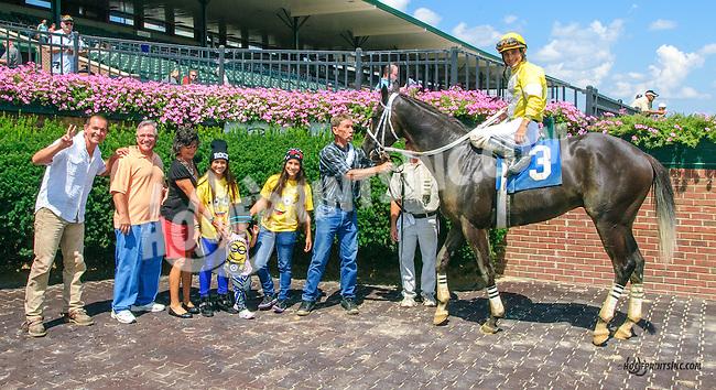 Chester B winning at Delaware Park on 8/12/15