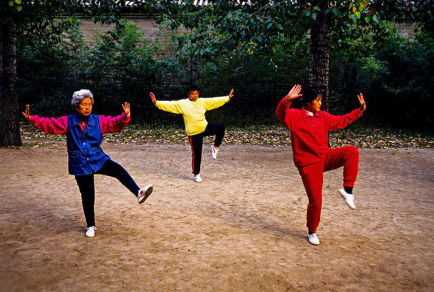 Early morning tai chi, Tiantan Park, Beijing, China