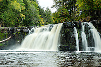 Manabezho Falls, Porcupine Mountains State Park. Western U.P. of Michigan
