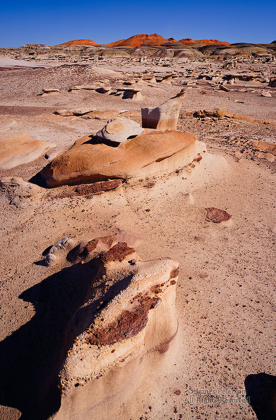 Orange Hills, Bisti Badlands Wilderness, New Mexico.  Available in sizes up to 30 x 45 inches.