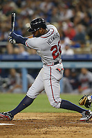 06/06/13 Los Angeles, CA: Atlanta Braves right fielder Jason Heyward #22 during an MLB game played between the Los Angeles Dodgers and the Atlanta Braves at Dodger Stadium. The Dodgers defeated the Braves 5-0.
