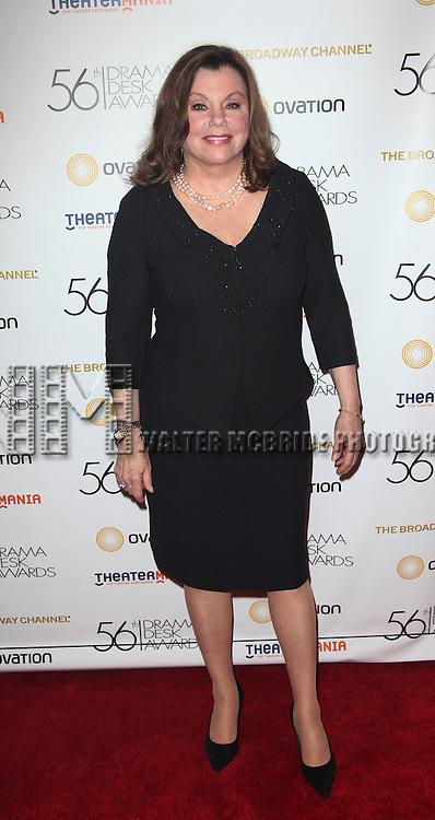 Marsha Mason.attending the 56th Annual Drama Desk Awards Arrivals at Hammerstein Ballroom in New York City.