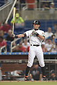 Ichiro Suzuki (Marlins),<br /> APRIL 8, 2015 - MLB :<br /> Ichiro Suzuki of the Miami Marlins at bat in the seventh inning during the Major League Baseball game against the Atlanta Braves at Marlins Park in Miami, Florida, United States. (Photo by AFLO)