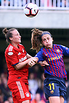 UEFA Women's Champions League 2018/2019.<br /> Semi Finals<br /> FC Barcelona vs FC Bayern Munchen: 1-0.<br /> Gina Lewandowski vs Alexia Putellas.