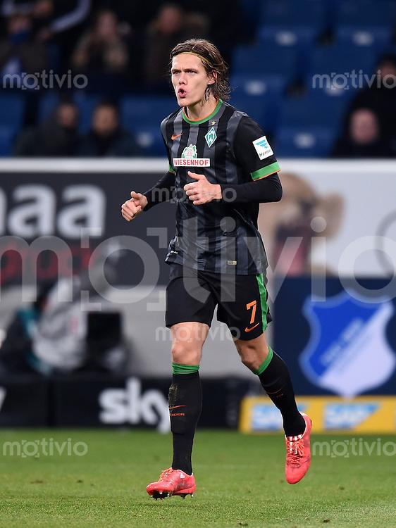 Fussball  1. Bundesliga  Saison 2014/2015  19. Spieltag in Sinzheim TSG 1899 Hoffenheim - SV Werder Bremen     04.02.2015 Jannik Vestergaard (SV Werder Bremen)