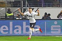 celebrate the goal, Torjubel zum 1:0 von Ante Rebic (Eintracht Frankfurt) - 03.11.2017: Eintracht Frankfurt vs. SV Werder Bremen, Commerzbank Arena