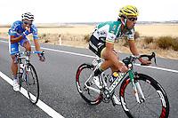 Aitor Galdos (r) and Jose Vicente Toribio during the stage of La Vuelta 2012 beetwen Penafiel-La Lastrilla.September 7,2012. (ALTERPHOTOS/Paola Otero) /NortePhoto.com<br /> <br /> **CREDITO*OBLIGATORIO** *No*Venta*A*Terceros*<br /> *No*Sale*So*third* ***No*Se*Permite*Hacer Archivo***No*Sale*So*third