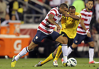 COLUMBUS, OHIO - SEPTEMBER 11, 2012:  Danny Williams (14) of the USA MNT breaks away from Rodolph Austin (17) of  Jamaica during a CONCACAF 2014 World Cup qualifying  match at Crew Stadium, in Columbus, Ohio on September 11. USA won 1-0.