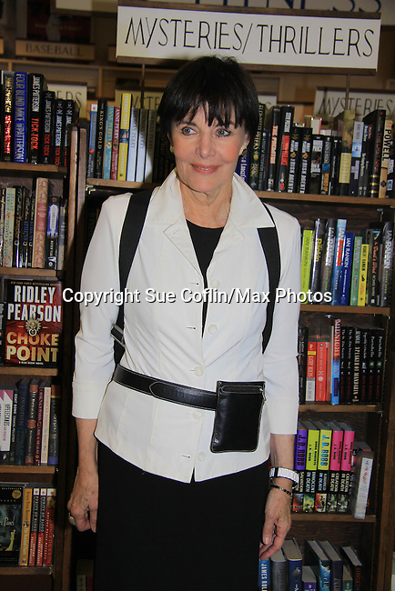 """Another World's Linda Dano comes to see castmate Alicia who speaks and signs her book """"Gracefully Gone"""" - a fusion of two journals: her father Matthew L. Coppola Sr. and hers - on August 23, 2013 at Book Revue, Huntington, New York. (Photo by Sue Coflin/Max Photos)"""