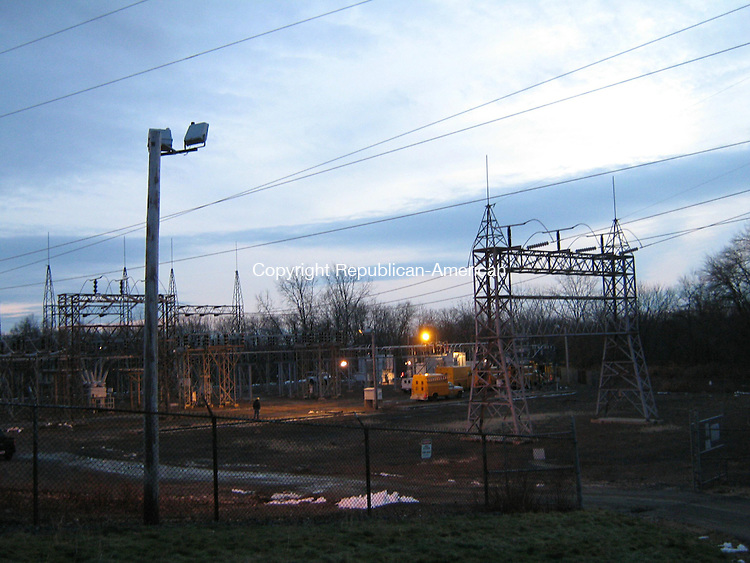WATERTOWN, CT - 15 Dec. 2009 - 121509AL01 - An equipment failure at the Connecticut Light & Power substation on Clough Road in Watertown caused more than 11,000 customers in Waterbury, Watertown, Middlebury and Woodbury to lose electricity Tuesday. CL&P had restored power to all residents by 5 p.m., but the substation was still undergoing repairs Tuesday night.