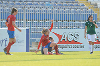 20190306 - LARNACA , CYPRUS : Czech midfielder Jitka Chlastakova (18) scored pictured during a women's soccer game between Czech Republic and Mexico , on Wednesday 6 March 2019  at the Antonis Papadopoulos Stadium in Larnaca , Cyprus . . This last game for both teams which decides for places 5 and 6 of the Cyprus Womens Cup 2019 , a prestigious women soccer tournament as a preparation on the Uefa Women's Euro 2021 qualification duels. PHOTO SPORTPIX.BE | STIJN AUDOOREN