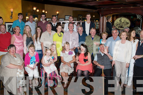 FIFTY: Chris Bullman Causeway who celebrated her 50th Birthday in The Meadowlands Hotel Tralee on Sunday evening with her family and friends (Chris is seated 3rd from right).