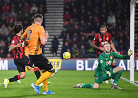 23rd November 2019; Vitality Stadium, Bournemouth, Dorset, England; English Premier League Football, Bournemouth Athletic versus Wolverhampton Wanderers; the shot from Matt Doherty of Wolverhampton Wanderers goes wide - Strictly Editorial Use Only. No use with unauthorized audio, video, data, fixture lists, club/league logos or 'live' services. Online in-match use limited to 120 images, no video emulation. No use in betting, games or single club/league/player publications