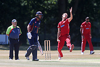 Billy Gordon in bowling action for Hornchurch during Wanstead and Snaresbrook CC vs Hornchurch CC, Shepherd Neame Essex League Cricket at Overton Drive on 30th June 2018