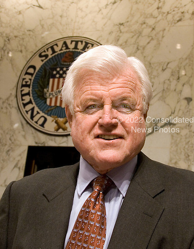 "Washington, D.C. - (FILE) - United States. Senator Edward M. ""Ted"" Kennedy (Democrat of Massachusetts) arrives at the U.S. Senate Judiciary Committee hearing on the nomination of Judge Samuel A. Alito, Jr. to be Associate Justice of The Supreme Court of the United States..Credit: Arnie Sachs / CNP"