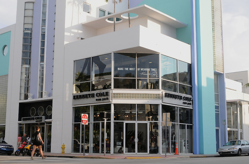 Kenneth Cole store at the corner of Collins Avenue and 8th Street, Miami Beach, Florida