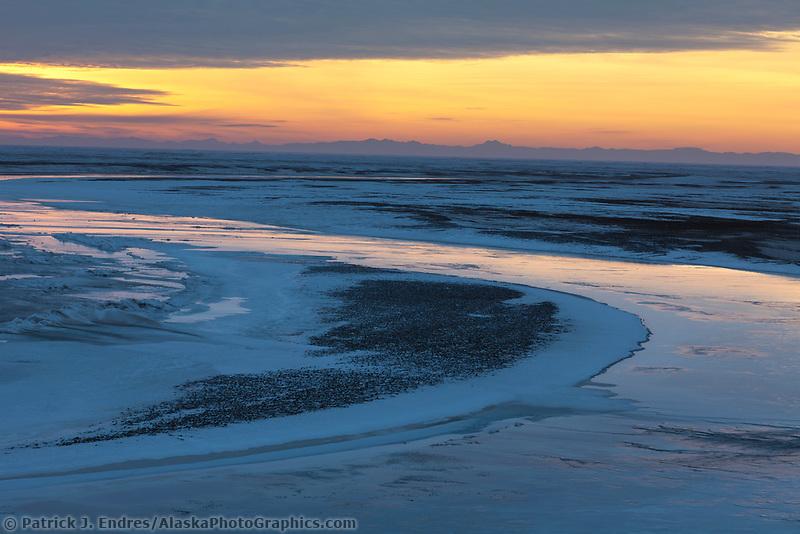 Sunrise over the Brooks Range mountains, Arctic North Slope, Alaska.