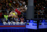 BARRANQUILLA - COLOMBIA, 23-07-2018: xxx durante su participación en gimnasia hombres modalidad piso como parte de los Juegos Centroamericanos y del Caribe Barranquilla 2018. /  xx during his participation in gymnastics men's floor category as a part of the Central American and Caribbean Sports Games Barranquilla 2018. Photo: VizzorImage / Cont