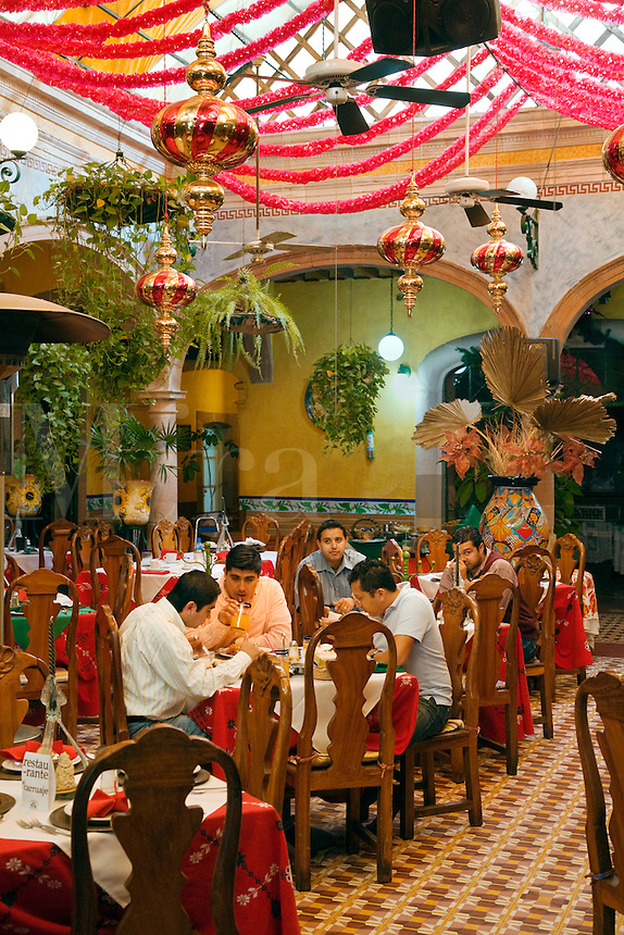 A fine MEXICAN RESTAURANT on the main plaza of DOLORES HIDALGO - GUANAJUATO, MEXICO