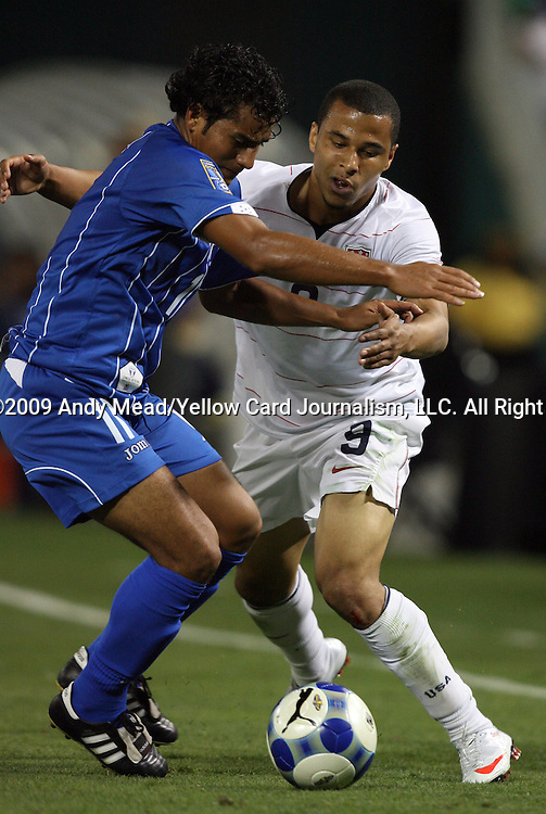 08 July 2009: Mariano Acevedo (HON) (11) and Charlie Davies (USA) (9). The United States Men's National Team defeated the Honduras Men's National Team 2-0 at RFK Stadium in a 2009 CONCACAF Gold Cup first round game.
