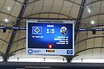 Die Anzeigetafel zum 1:5 Endstand beim Spiel Hamburger SV gegen den  SV Sandhausen in Hamburg / 280620<br /><br />*** Football - nph00001,  2. Bundesliga: Hamburg SV vs SV Sandhausen, Hamburg, Germany - 28 Jun 2020 ***<br /><br />Only for editorial use. (DFL/DFB REGULATIONS PROHIBIT ANY USE OF PHOTOGRAPHS as IMAGE SEQUENCES and/or QUASI-VIDEO)<br />FOTO: Ibrahim Ot/action press/POOL/nordphoto *** Local Caption *** [4::31065105]