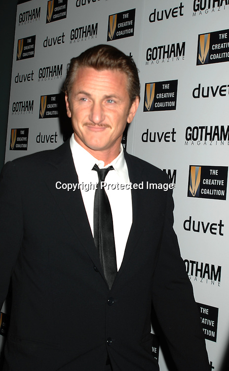 Sean Penn..arriving at The Creative Coaltion's 2006 Spotlight and Christopher Reeve First Amendment Awards Gala hosted by ..Gotham Magazine on December 18, 2006 at Duvet in New York...Robin Platzer, Twin Images