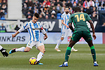 CD Leganes's Unai Bustinza and Real Betis Balompie's William Silva de Carvalho during La Liga match between CD Leganes and Real Betis Balompie at Butarque Stadium in Madrid, Spain. February 10, 2019. (ALTERPHOTOS/A. Perez Meca)