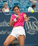 August 15,2018:   Garbine Muguruza (ESP) loses to Lesia Tsurenko (UKR) 2-6, 6-4, 6-4 at the Western & Southern Open being played at Lindner Family Tennis Center in Mason, Ohio.  ©Leslie Billman/Tennisclix/CSM