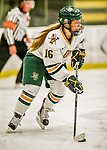 13 November 2015: University of Vermont Catamount Forward Bridget Baker, a Junior from Los Gatos, CA, in action against the Providence College Friars at Gutterson Fieldhouse in Burlington, Vermont. The Lady Friars defeated the Lady Cats 4-1 in Hockey East play. Mandatory Credit: Ed Wolfstein Photo *** RAW (NEF) Image File Available ***