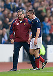 Scott Brown injury doubt as he goes off with Scotland doctor John McLean