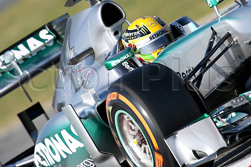 19.02.2013 Jerez, Spain. FIA Formula One World Championship 2013 F1 Testing. Lewis Hamiton Mercedes AMG team.