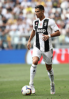 Calcio, Serie A: Juventus - Sassuolo, Turin, Allianz Stadium, September 16, 2018.<br /> Juventus' Cristiano Ronaldo in action during the Italian Serie A football match between Juventus and  Sassuolo at Torino's Allianz stadium, September 16, 2018.<br /> UPDATE IMAGES PRESS/Isabella Bonotto