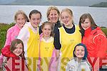 ENJOYING: Aisling Doyle, Elizabeth Fuller, Caoimhe Doyle, Shona OSullivan,.Aine McGrath, Ellen OSullivan, Jack McGrath and Aoife Cooper (all.Killarney) enjoying the racing at the Killarney Regatta at OMahonys Point.last Sunday.