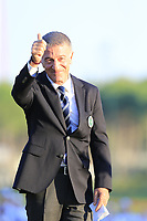 Ahmet Agaoglu President of Turkish Golf Federation at the prize giving ceremony at the end of Sunday's Final Round of the 2018 Turkish Airlines Open hosted by Regnum Carya Golf &amp; Spa Resort, Antalya, Turkey. 4th November 2018.<br /> Picture: Eoin Clarke | Golffile<br /> <br /> <br /> All photos usage must carry mandatory copyright credit (&copy; Golffile | Eoin Clarke)