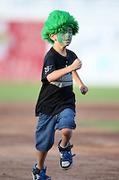 Jamestown Jammers fan during an on-field promotion during a game vs. the Mahoning Valley Scrappers at Russell Diethrick Park in Jamestown, New York June 20, 2010.   Mahoning Valley defeated Jamestown 9-2.  Photo By Mike Janes/Four Seam Images