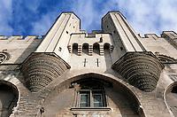Europe/France/Provence-Alpes-Côte- d'Azur/84/Vaucluse/Avignon: Palais des Papes détail du portail