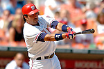 5 September 2005: Vinny Castilla, third baseman for  the Washington Nationals, at bat against the Florida Marlins. The Nationals defeated the Marlins 5-2 at RFK Stadium in Washington, DC, maintaining a close race for the NL Wildcard spot. Mandatory Photo Credit: Ed Wolfstein.