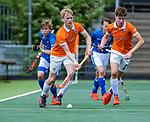 AMSTELVEEN -Kampong JB1-Bloemendaal JB1.  BLOEMENDAAL JB1 wint de titel Jongens  B. (3-3) na shoot outs. finales A en B jeugd  Nederlands Kampioenschap.  COPYRIGHT KOEN SUYK
