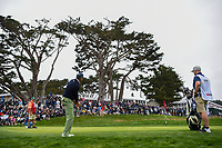 Matt Kuchar (USA) chips on to 3 during round 4 of the 2019 US Open, Pebble Beach Golf Links, Monterrey, California, USA. 6/16/2019.<br /> Picture: Golffile | Ken Murray<br /> <br /> All photo usage must carry mandatory copyright credit (© Golffile | Ken Murray)