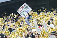 Annapolis, MD - December 27, 2016: Wake Forest Demon Deacons fans during game between Temple and Wake Forest at  Navy-Marine Corps Memorial Stadium in Annapolis, MD.   (Photo by Elliott Brown/Media Images International)