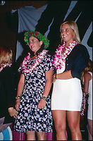 Wendy Botha (AUS) and Pauline Menczer (AUS) at the 1991 ASP Awards Banquet in Hawaii,- Photo: joliphotos.com