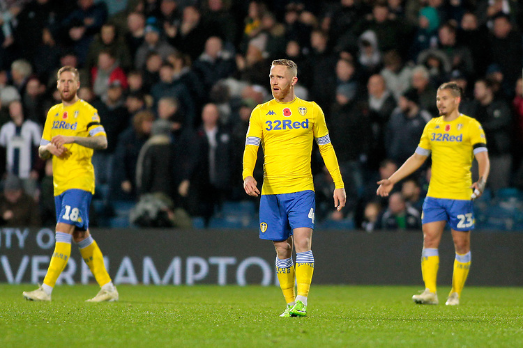 Leeds United plays looks dejected after going 2-0 behind<br /> <br /> Photographer David Shipman/CameraSport<br /> <br /> The EFL Sky Bet Championship - West Bromwich Albion v Leeds United - Saturday 10th November 2018 - The Hawthorns - West Bromwich<br /> <br /> World Copyright © 2018 CameraSport. All rights reserved. 43 Linden Ave. Countesthorpe. Leicester. England. LE8 5PG - Tel: +44 (0) 116 277 4147 - admin@camerasport.com - www.camerasport.com