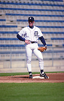 Detroit Tigers Scott Livingstone (7) during Spring Training 1993 at Joker Marchant Stadium in Lakeland, Florida.  (MJA/Four Seam Images)