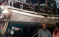 BNPS.co.uk (01202 558833)<br /> Pic: RichardAshanolla/BNPS<br /> <br /> Before the restoration in 2017.<br /> <br /> A couple who spent &pound;3,000 saving an historic 'little' ship that served in and survived three wars are now set to sell it for &pound;160,000.<br /> <br /> Arron and Tina French found the 40ft Caretta in a run-down and rotten state in a marina where it had languished for almost 20 years.<br /> <br /> They bought it for &pound;2,200 and remarkably spent &pound;1,000 and four months restoring it to its former 19th century glory.<br /> <br /> They have now decided to sell it and although it has been given a pre-sale estimate of &pound;60,000, they have been told the historic vessel could go for almost three times that figure.